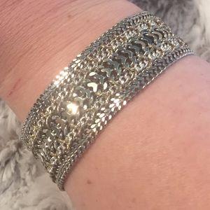 Lucky Brand Two Tone Mesh Link Bracelet